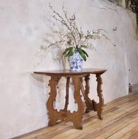 Charming 18th Century Italian Demi-Lune Lyre-Leg Fruitwood Table (13 of 13)