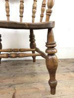 19th Century Beech and Elm Smoker's Bow Chair (5 of 12)