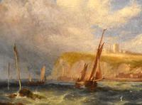 Coastal scene oil painting by Joseph W Yarnold (4 of 6)