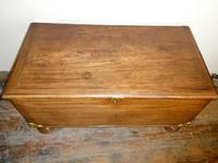 19th Century Mahogany Coffer or Blanket Chest (7 of 9)