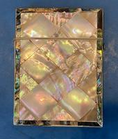 Victorian Abalone & Mother of Pearl Card Case (15 of 16)