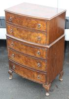 1960s Small Mahogany Bow Chest 5 Drawers (2 of 4)
