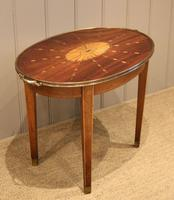 Low Inlaid Oval Table (6 of 9)
