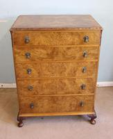 Burr Walnut Chest of Drawers c.1930 (8 of 12)