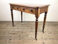 Victorian Mahogany Two Drawer Side Table (3 of 9)