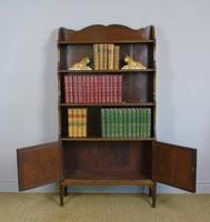 Antique Mahogany Waterfall Bookcase Cabinet (3 of 9)