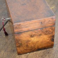 Fine London Made Burr Walnut Tea Caddy (3 of 6)