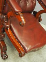 William IV Mahogany and Burgundy Leather Armchair (6 of 12)