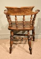 19th Century Elm Smokers Bow Armchair (6 of 6)