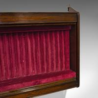 Antique Display Cabinet, English, Oak, Humidor, Collectibles Case, Edwardian (8 of 9)