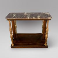 A Regency Console Table with Marble Top