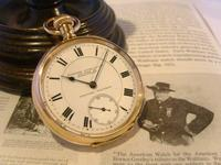 Antique Pocket Watch 1903 Special Waltham 10ct Rose Gold Filled Fwo