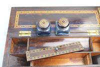 A Superior Tunbridge Ware Fitted Lap Desk Hever Castle C. 19thc (4 of 14)