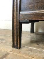 Early 20th Century Panelled Oak Coffer (5 of 8)