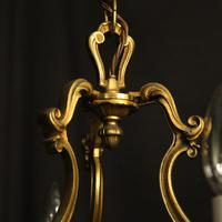French Gilded Bronze 8 Light Rococo Chandelier c.1930 (9 of 10)