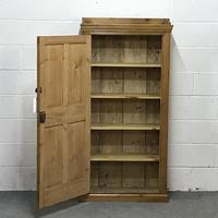 Tall Slim Shallow Old Pine School Cupboard (2 of 5)