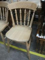 Set of Four Spindle Back Pine Chairs (2 of 3)