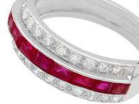 1.06ct Ruby & 0.89ct Diamond, Platinum Ring - Antique c.1890 (4 of 9)
