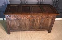18th Century Oak Coffer (3 of 13)
