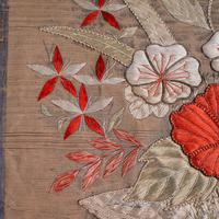 Pair of Antique Decorative Panels, Chinese, Embroidered Silk, Victorian c.1880 (6 of 9)