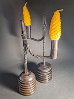 Pair of 19th Century Iron Rushlights (4 of 5)