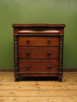 Antique Scottish Style Mahogany Chest of Drawers, Country House Chest (13 of 19)