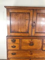 Antique 19th Century Oak Campaign Chest with Cupboard (10 of 17)
