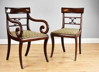Set of 8 Antique Regency Style Mahogany Dining Chairs c.1900