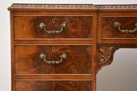 Antique Queen Anne Style Burr Walnut Leather Top Desk (7 of 11)
