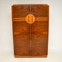 Art Deco Figured Walnut Wardrobe Vintage 1930's (2 of 10)