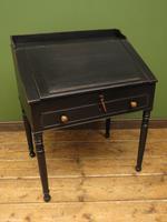 Antique Painted Black Clerks Desk (13 of 17)