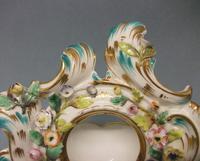Coalport 'Coalbrookdale' Flower Encrusted Table Watch Stand c.1825-1830 (5 of 8)
