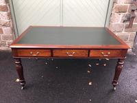 Antique Mahogany 6 Draw Partners Library Writing Table