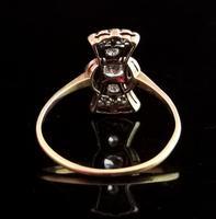Vintage Art Deco Diamond Filigree Ring, 18ct Gold & Platinum (8 of 14)
