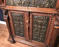 Victorian Carved Oak Secretaire Bookcase (19 of 25)