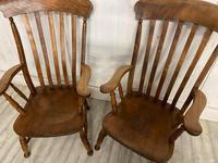 Pair of Edwardian Farmhouse Fireside Chairs (3 of 4)