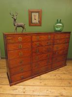 Substantial Antique Bank Of 18 Shop Drawers (12 of 25)