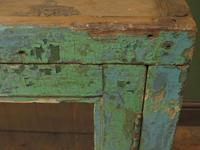 Antique Glazed Wooden Indian Wall Cabinet with Chippy Old Turquoise Paint (4 of 18)