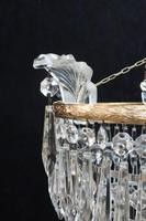 Italian Art Deco Four Tier Crystal Glass Chandelier (5 of 7)