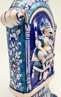 Vintage Bombay Porcelain Vase Featuring Hindu God Ganesh Standing on a Mouse (4 of 8)