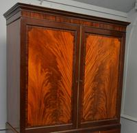 Georgian Flame Mahogany Linen Press / Wardrobe (4 of 13)