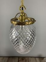 Edwardian Cut Glass Crystal Pendant Ceiling Light, Rewired (2 of 6)