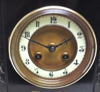 Good Slate & Marble Mantel Clock 8 Day Striking Mantle Clock (3 of 9)