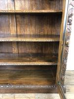 Victorian Glazed Oak Cabinet with Carved Detail (2 of 10)
