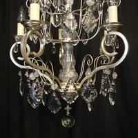 French Silver Gilded 5 Light Antique Chandelier (3 of 11)