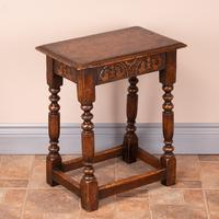 Carved Oak Joint Stool (4 of 15)