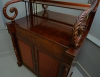 Fine Regency Mahogany Chiffonier Side Cabinet (15 of 18)