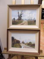 2 Oils on Board Spitisbury Dorset Listed Artist Pamela Derry 1960s (10 of 10)