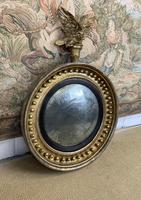 Stunning English Regency Convex Mirror With Eagle (2 of 6)