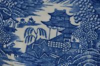 c1785-90 Caughley Porcelain 'Fenced Garden' Pattern Saucer (6 of 6)